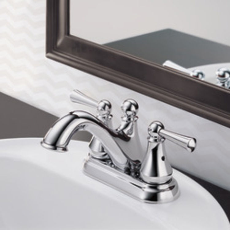 View 3 of Delta 25999LF Delta 25999LF Haywood Centerset Bathroom Faucet with Pop-Up Drain, Chrome