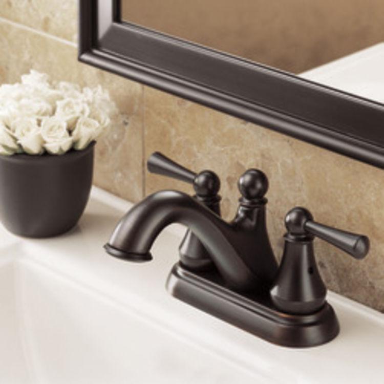 View 3 of Delta 25999LF-RB Delta 25999LF-RB Haywood Centerset Bathroom Faucet with Pop-Up Drain, Venetian Bronze