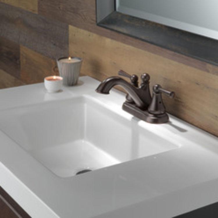 View 4 of Delta 25999LF-RB Delta 25999LF-RB Haywood Centerset Bathroom Faucet with Pop-Up Drain, Venetian Bronze