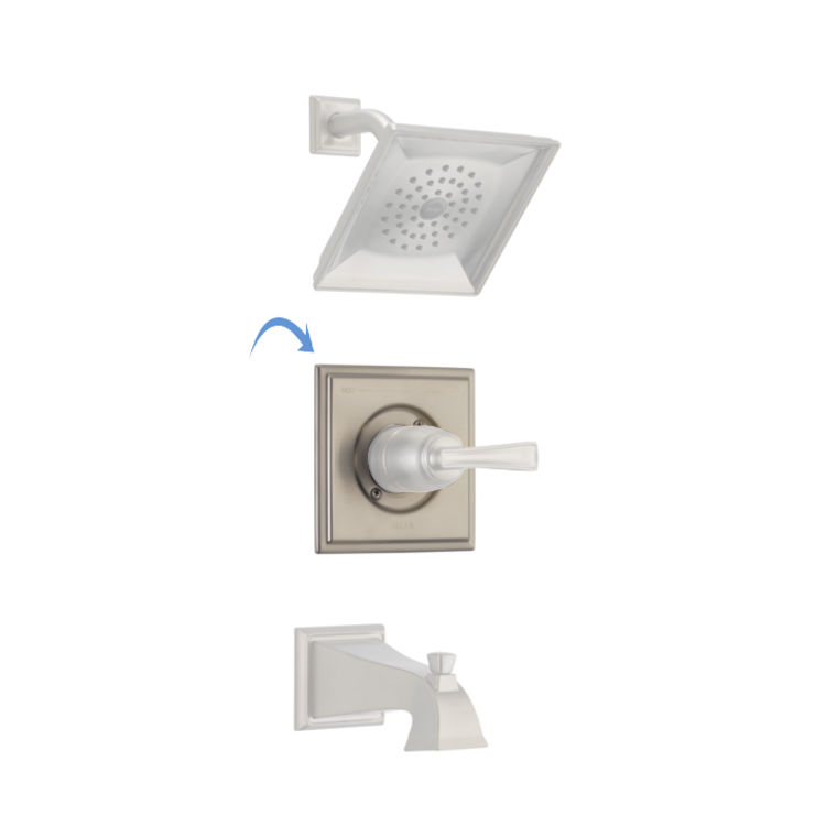 View 3 of Delta RP77035SS Delta RP77035SS Olmsted Square-Shaped Tub/Shower Trim Valve Escutcheon, Stainless