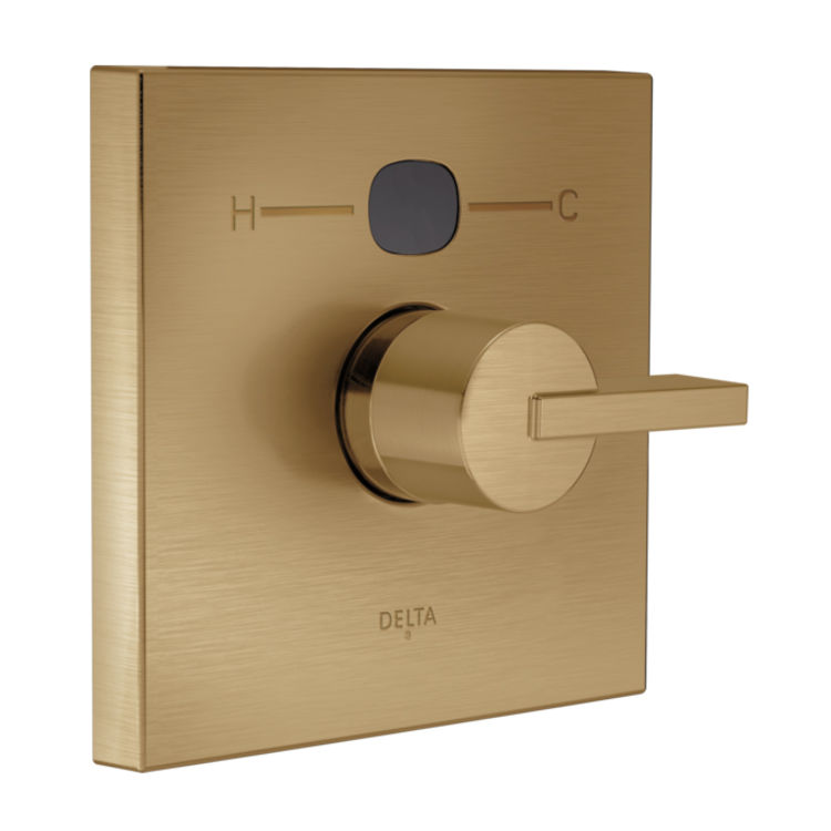 View 3 of Delta RP78577CZ Delta RP78577CZ Angular Modern Temp20 Escutcheon -  Champagne Bronze