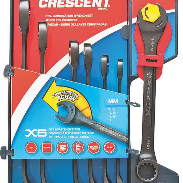 View 3 of Crescent CX6RWM7 Crescent CX6RWM7 Ratcheting Wrench Set, 7 Pieces