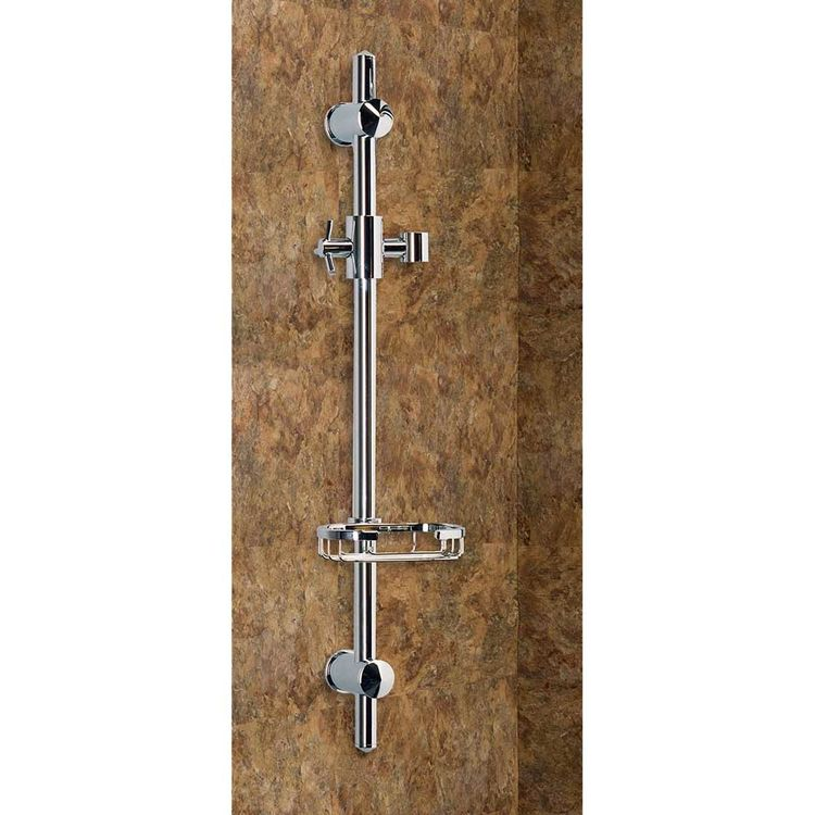 View 3 of Pulse 1010-CH Pulse 1010-CH Adjustable Hand Shower Chrome Slide Bar, Brass Handle