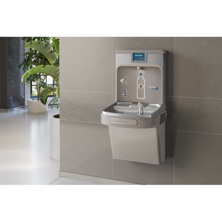 View 5 of Elkay LZS8WSLP Elkay LZS8WSLP Enhanced ezH2O Bottle Filling Station w/ Single Cooler - Filtered, 8 GPH, Wall Mount, ADA, Light Gray Granite