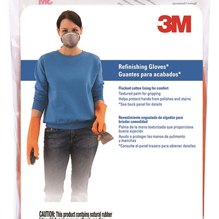 View 3 of 3M 90016T Tekk Protection 900 Protective Gloves, Large, Cotton Flocked Lining