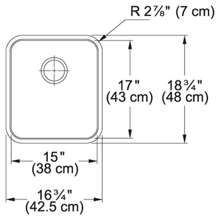 View 3 of Franke GDX11015 Franke GDX11015 Single Bowl Undermount Stainless Undermount Sink - Stainless
