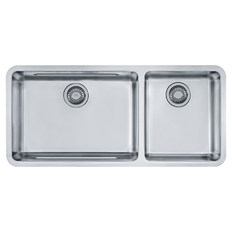 View 3 of Franke KBX12039 Franke KBX12039 Double Bowl Undermount Stainless Undermount Sink - Stainless