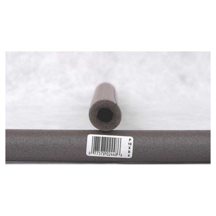 View 2 of Thermwell P10XB/6 Frost King P10XB/6 Pre-Slit Pipe Insulation, 1/2 in Pipe, 6 ft L x 3/8 in T, Polyethylene Foam