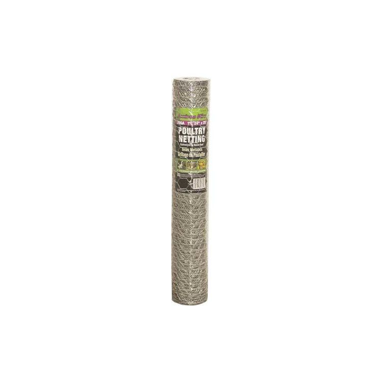 Jackson Wire 12011816 Jackson Wire 12011816 Poultry Netting, 25 ft L X 24 in H X 20 ga T, 1 in Mesh