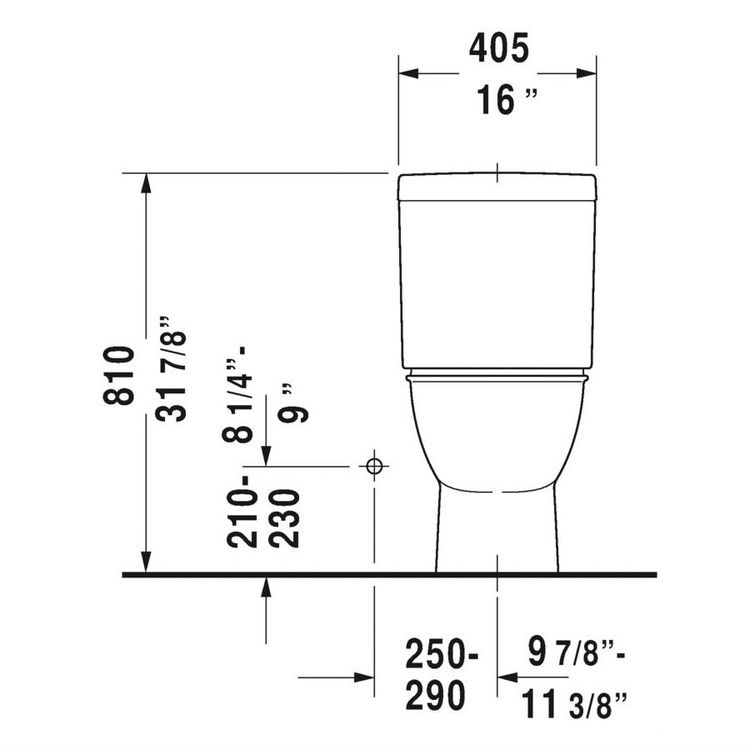 View 5 of Duravit 21260100001 Duravit 21260100001 Darling New Single Flush Two-Piece Floor Mounted Elongated Toilet - White