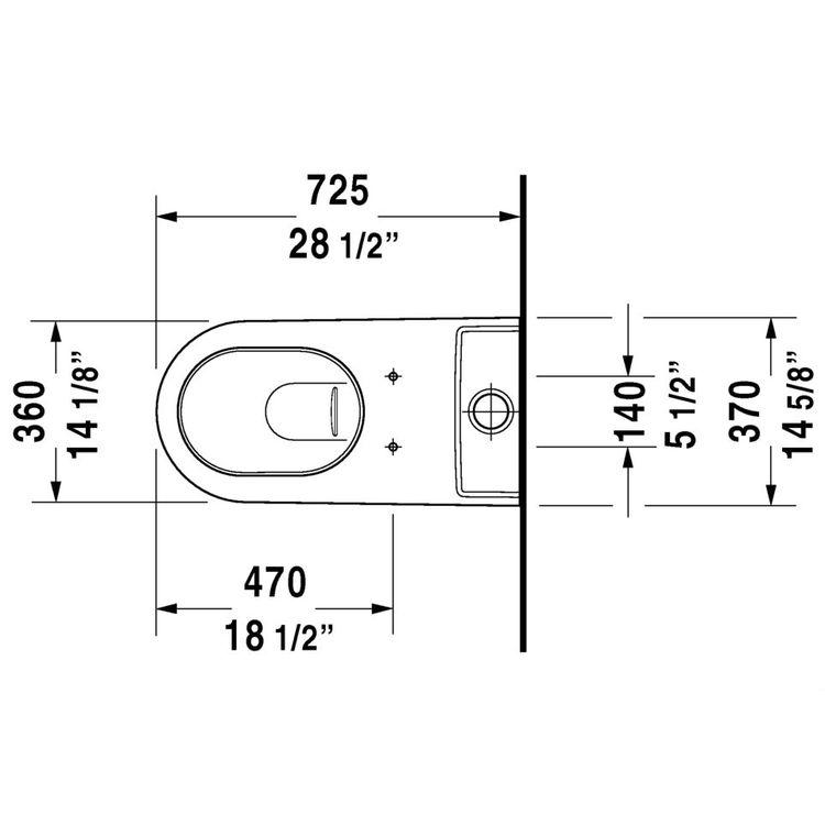View 2 of Duravit 21290900921 Duravit 21290900921 Starck 2 Dual Flush Two-Piece Floor Mounted Close Coupled Elongated Toilet - White