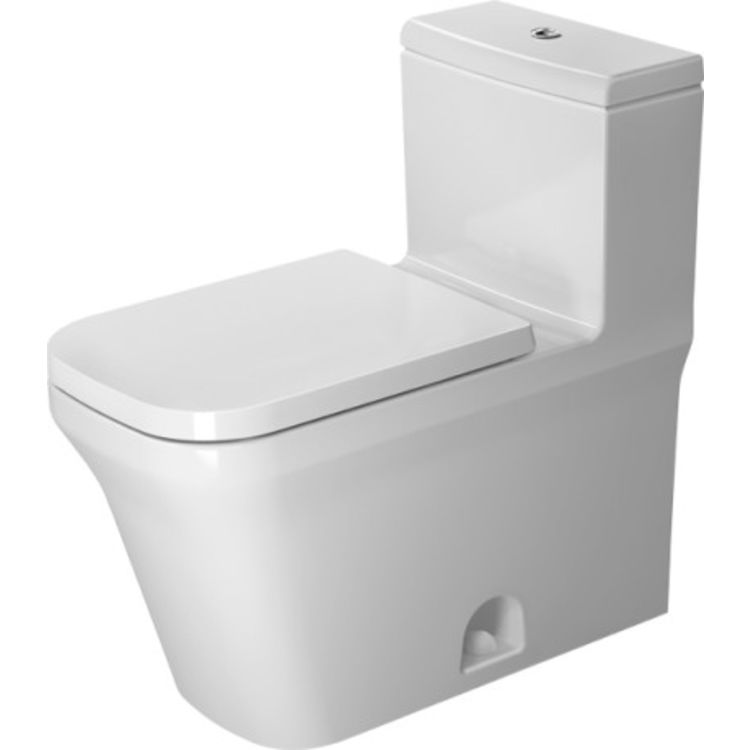 Duravit 21750100851 Duravit 21750100851 P3 Comforts Single Flush/Dual Flush One-Piece Floor Mounted Rimless Elongated Toilet - White