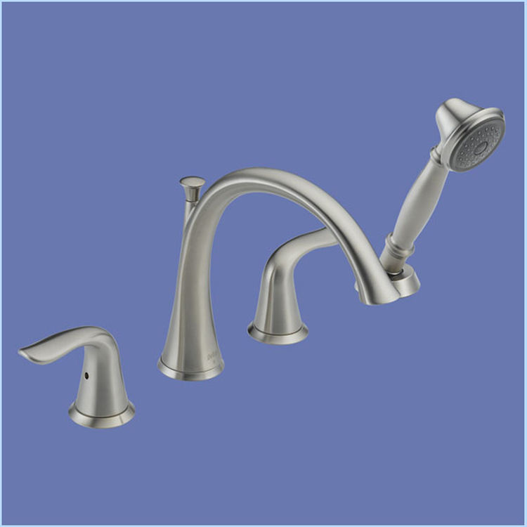 Delta T4738 Ss Lahara Roman Tub Faucet With Handshower In Stainless