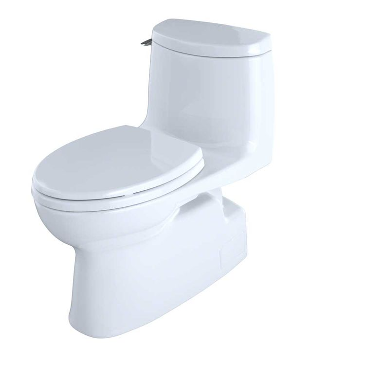 View 4 of Toto MS614114CUFG#01 TOTO Carlyle II 1G One-Piece Elongated 1.0 GPF Universal Height Skirted Toilet with CeFiONtect, Cotton White - MS614114CUFG#01