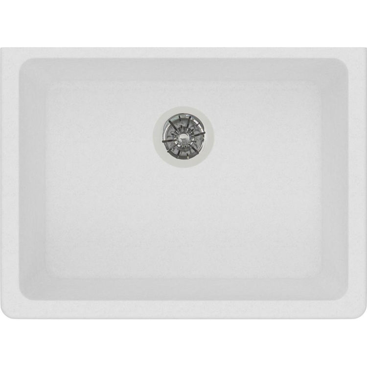 View 3 of Elkay ELGUAD2519PDWH0 Elkay  ELGUAD2519PDWH0 Quartz Classic Single Bowl Undermount ADA Sink with Perfect Drain, 25