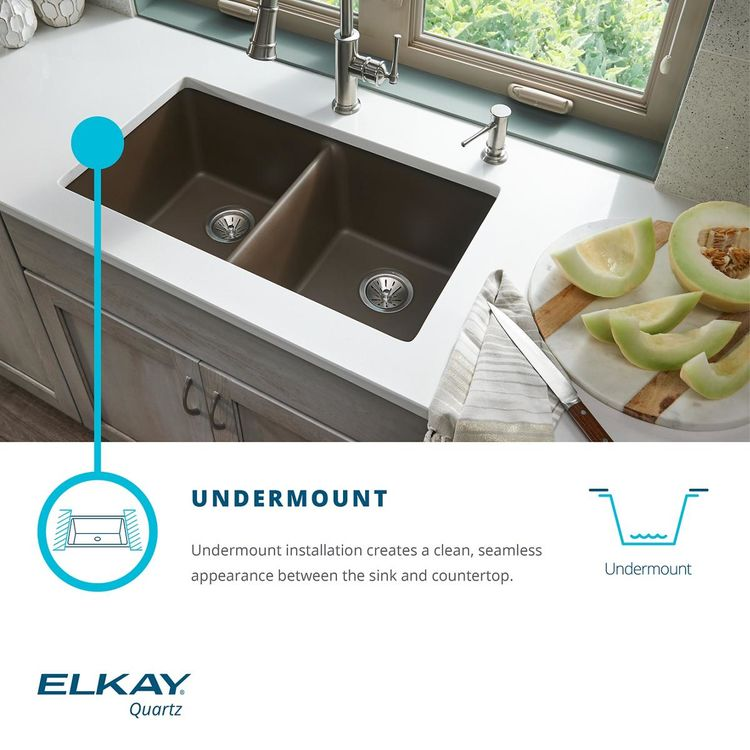 View 7 of Elkay ELGUAD2519PDWH0 Elkay  ELGUAD2519PDWH0 Quartz Classic Single Bowl Undermount ADA Sink with Perfect Drain, 25