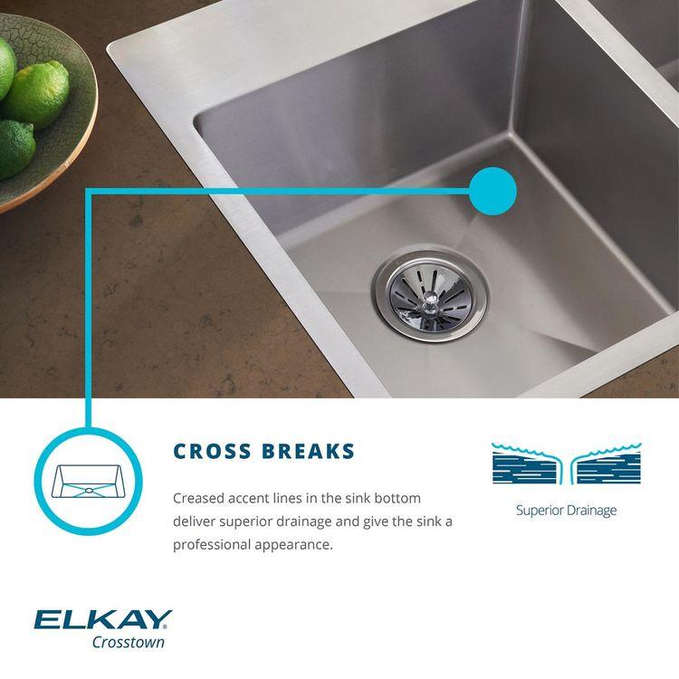 View 6 of Elkay ECTSRS33229TBG4 Elkay Crosstown Stainless Steel 33