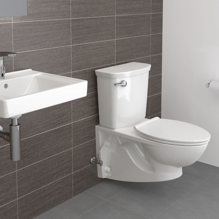 View 4 of American Standard 2882.107.020 American Standard 2882.107.020 Glenwall VorMax Wall Hung Elongated Complete Toilet - White