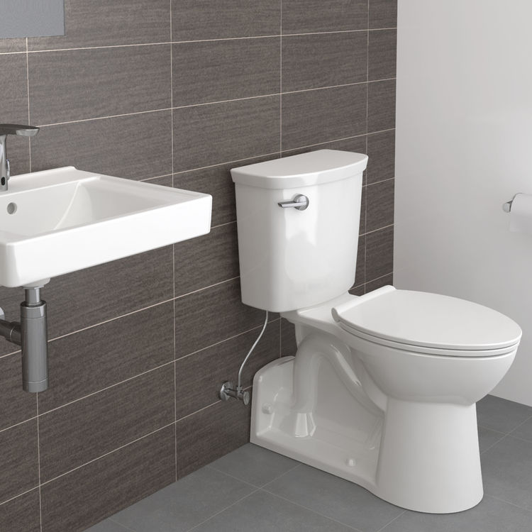 View 6 of American Standard 209AA137.020 American Standard Yorkville 209AA.137.020 White VorMax 1.28 GPF Elongated Toilet