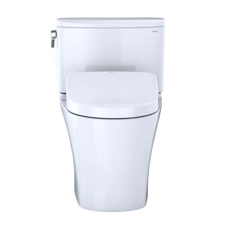 View 6 of Toto MW4423056CEFGA#01 TOTO WASHLET+ Nexus Two-Piece Elongated 1.28 GPF Toilet with Auto Flush S550e Contemporary Bidet Seat, Cotton White - MW4423056CEFGA#01