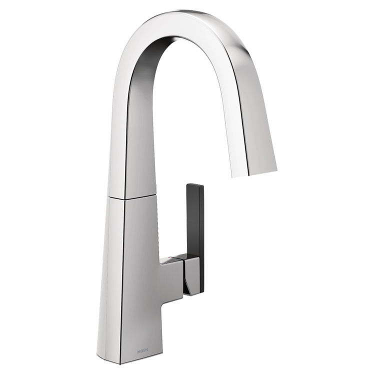 View 3 of Moen S55005 Moen S55005 Nio SIngle-Handle Bar Prep Faucet, Chrome (Handle Accent Included)