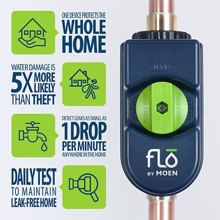 View 8 of Moen 900-001 Flo by Moen Leak Detector - 3/4