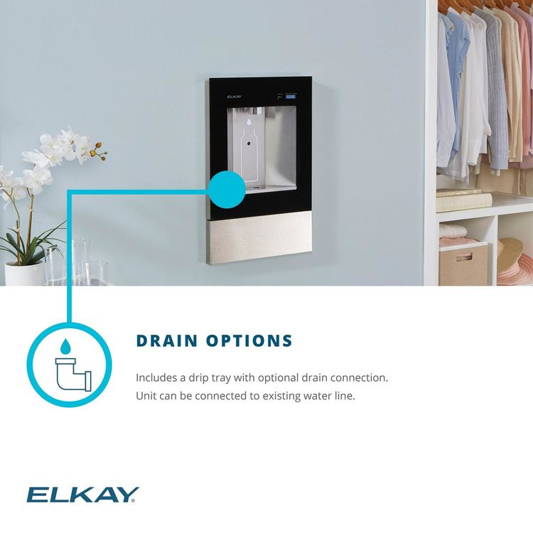 View 7 of Elkay LBWD00WHC Elkay ezH2O Liv Built-in Filtered Water Dispenser, Non-refrigerated, Aspen White - LBWD00WHC