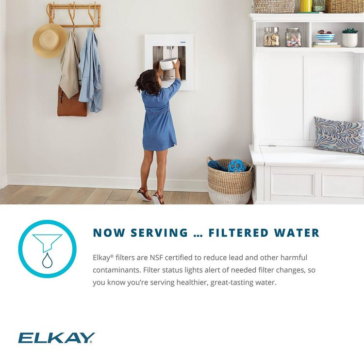 View 11 of Elkay LBWD06WHK Elkay LBWD06WHK ezH2O Liv Built-in Filtered Water Dispenser, Remote Chiller, Aspen White