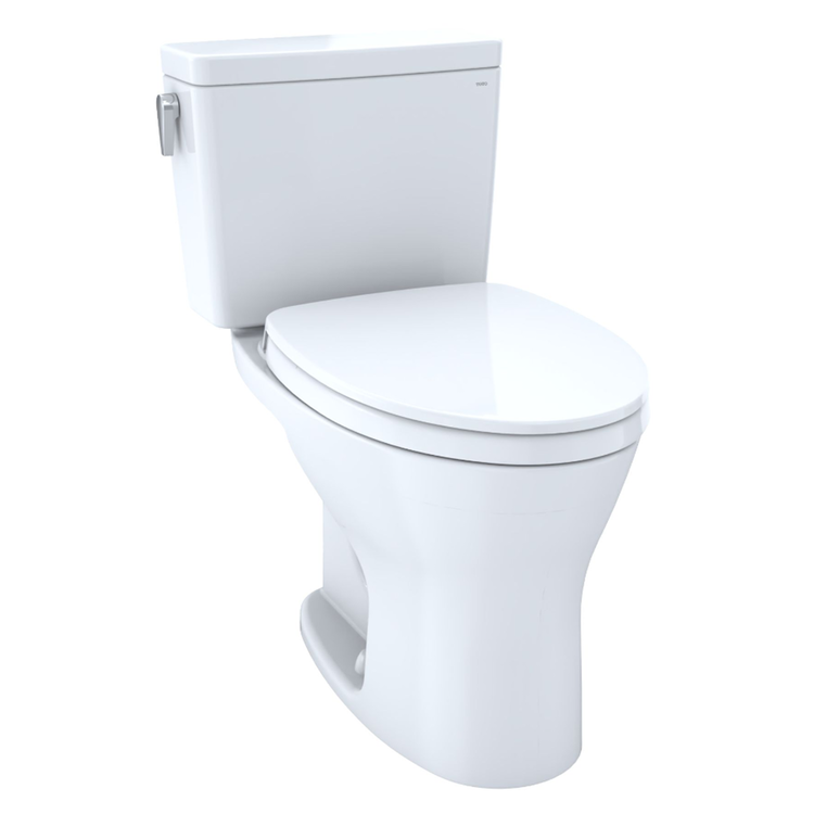View 3 of Toto CST746CEMFG#01 TOTO Drake Two-Piece Elongated Dual Flush 1.28 and 0.8 GPF Universal Height DYNAMAX TORNADO FLUSH Toilet with CEFIONTECT, Cotton White - CST746CEMFG#01