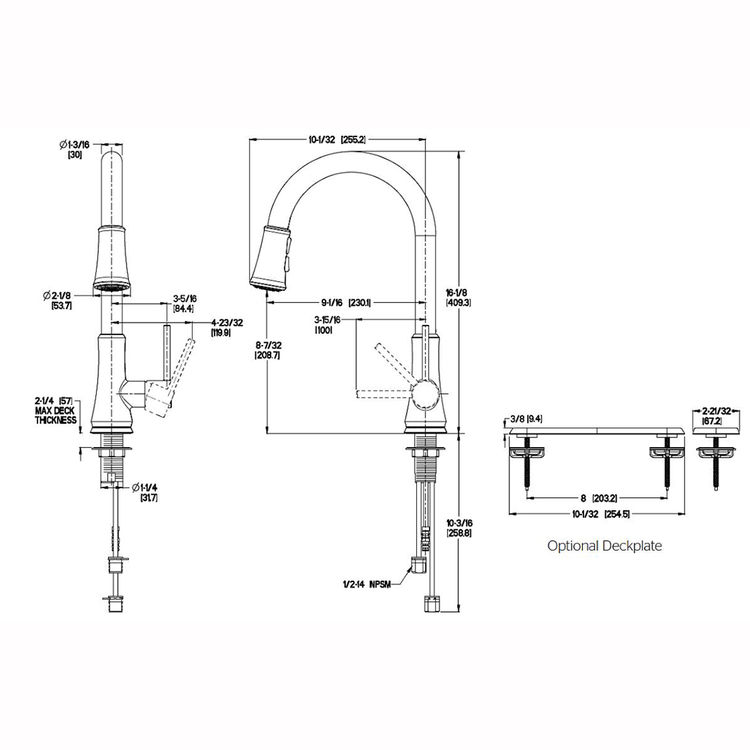 Pfister G529 Pf2y Pfirst One Handle Pulldown Kitchen Faucet Tuscan Bronze