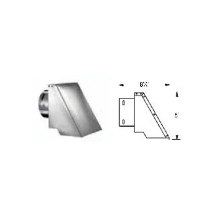 M Amp G Duravent Pelletvent Pro Square Horizontal Cap 4pvp Hsc