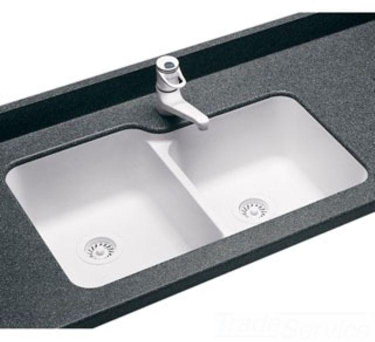 Swanstone Us 3015 059 15 X 30 Undermount Double Bowl Kitchen Sink Tahiti Ivory Us03015sb 059