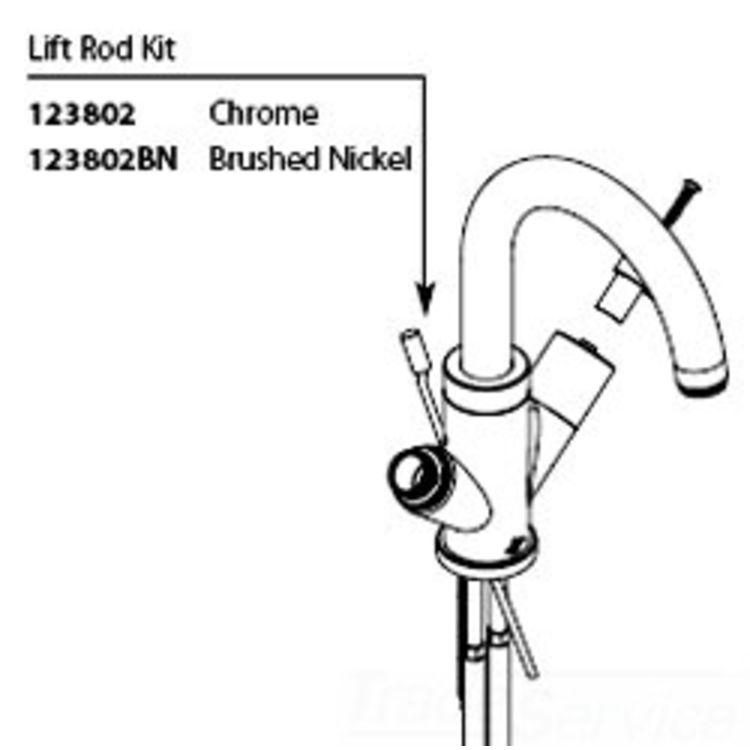 Moen 123802BN Moen 123802BN Part Lift Rod Kit, Centerset