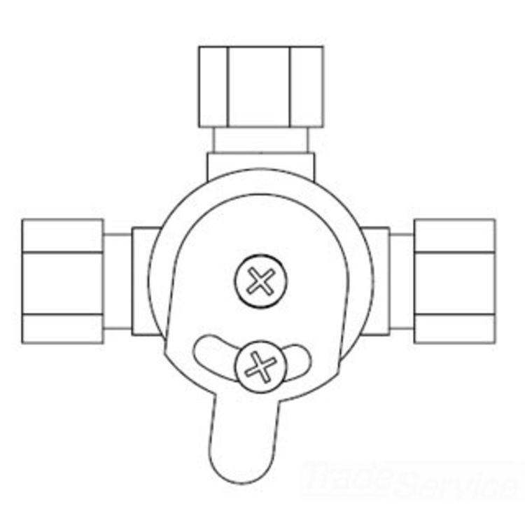 Sloan 3326009 Mix 60 A Mechanical Mixing Valve For: T&S BRASS 013130-45 MECHANICAL MIXING VALVE FOR OLD-STYLE