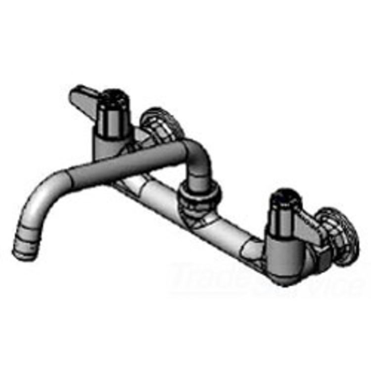 T/&S Brass 5F-8WLX08 Wall Mount Faucet with 8-Inch Centers and 8-Inch Swing Nozzle