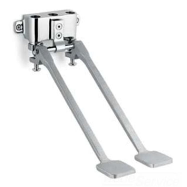 View 3 of Speakman S-3219 Speakman S-3219 Polished Chrome Wall-Mounted Double Foot Pedal