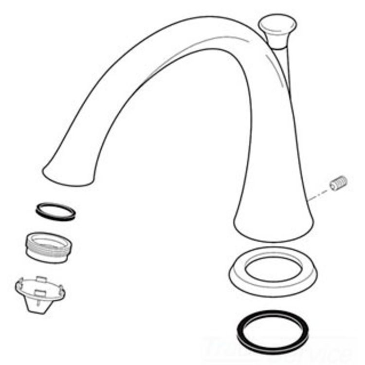 Delta RP51285SS Delta RP51285SS Lahara Three-Hole Roman Tub Spout Assembly, Stainless