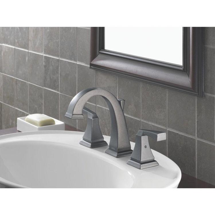 Delta 3551lf Ss Dryden Two Handle Widespread Bathroom