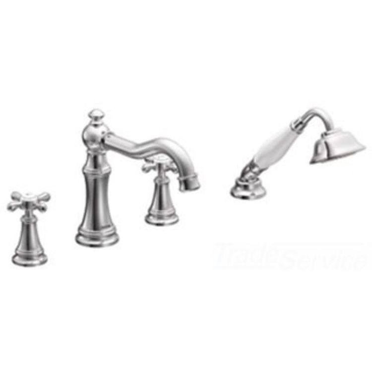 Moen TS21102 Two-Handle Diverter Roman Tub Faucet With
