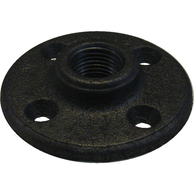 1 2 black iron floor flange plumbersstock for 1 black floor flange