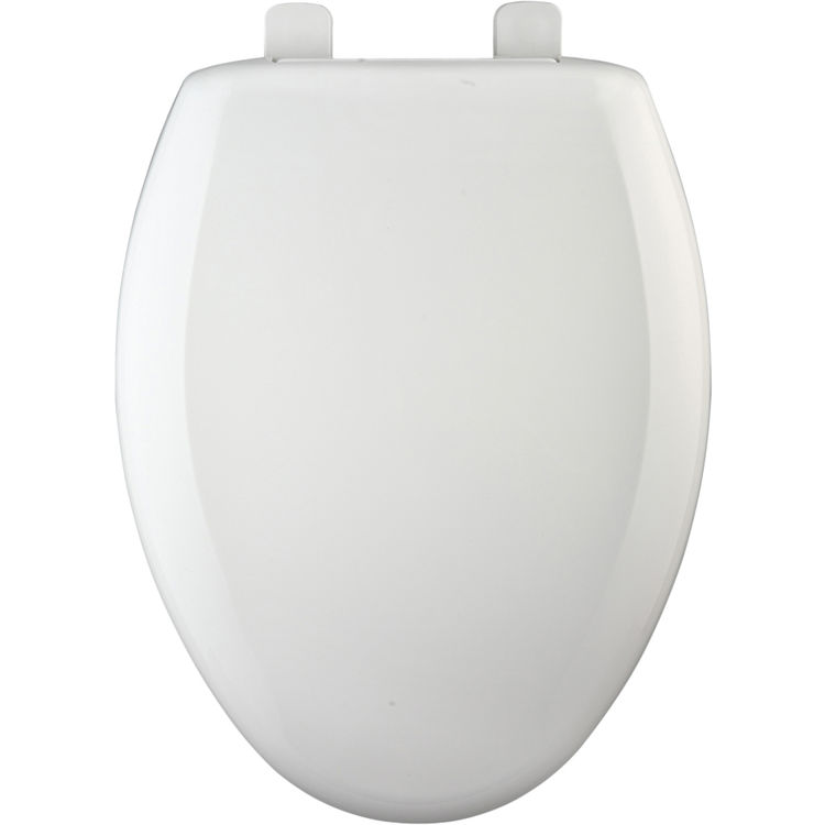 Bemis 7900TDGSL 000 White Closed Front Elongated Toilet Seat With Cover