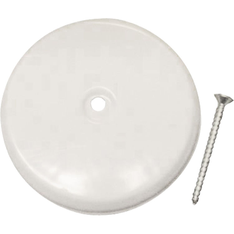 "Floor Cleanout Cover Plate: 5 1/4"" Cleanout Cover Plate White"
