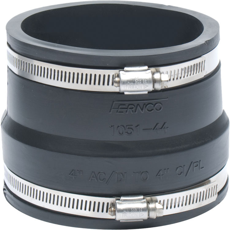 Fernco  quot coupling asbestos or ductile to