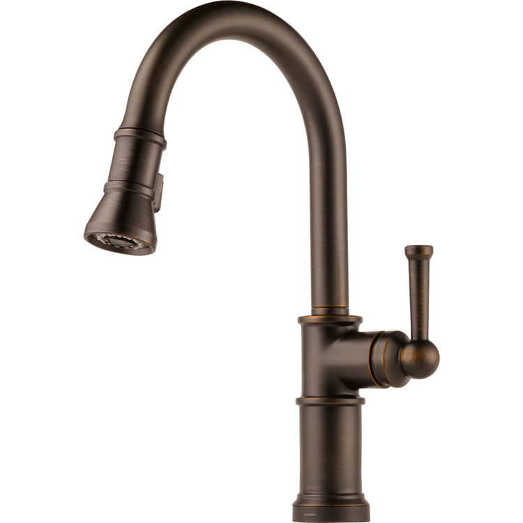 Brizo 64025lf Rb Venetian Bronze Artesso Single Handle Pull Down Kitchen Faucet
