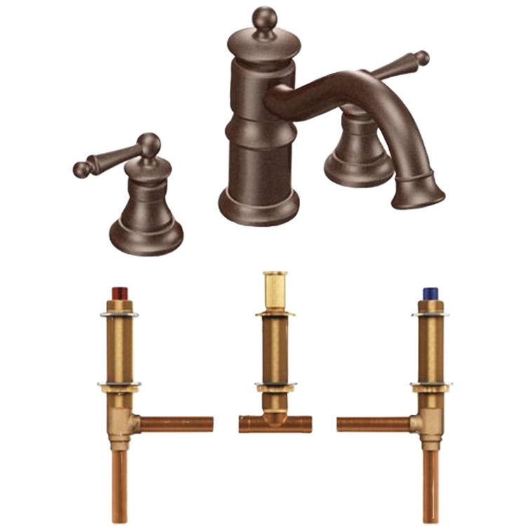 moen ts214orb waterhill roman tub faucet trim in oil rubbed bronze
