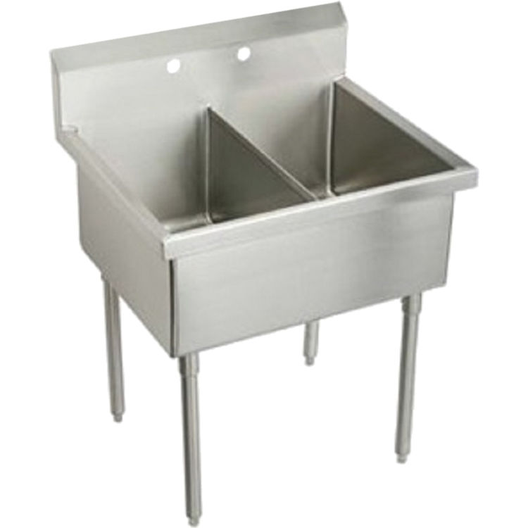 Elkay SS8260OF2 Double Bowl Stainless Steel Scullery Sink