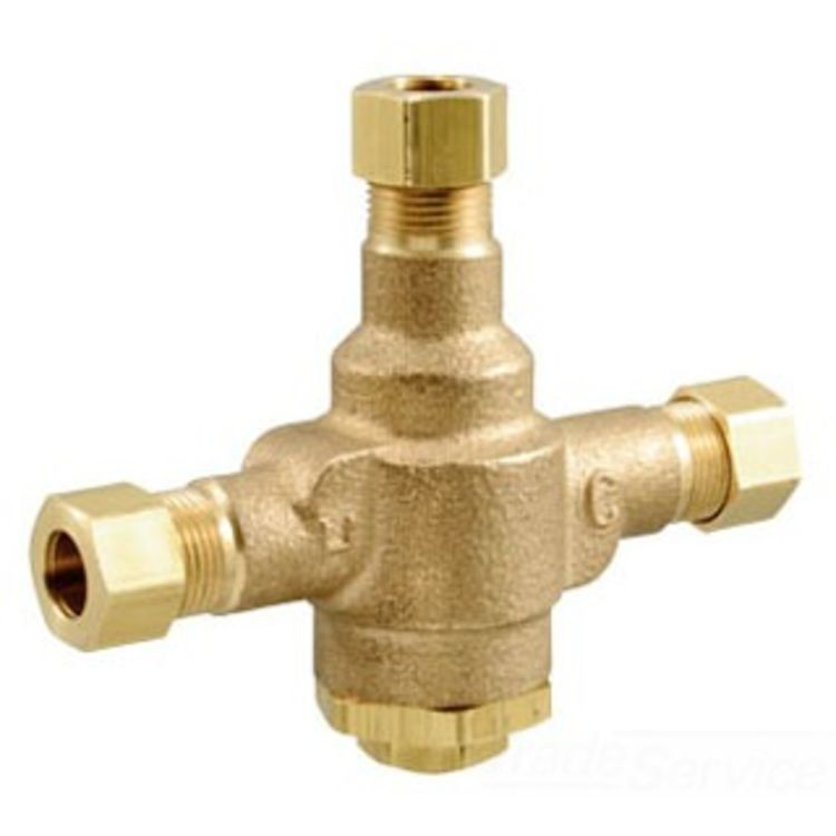 Watts Thermostatic Mixing Valve: POWERS LFE480-10 THERMOSTATIC MIXING VALVE WATTS