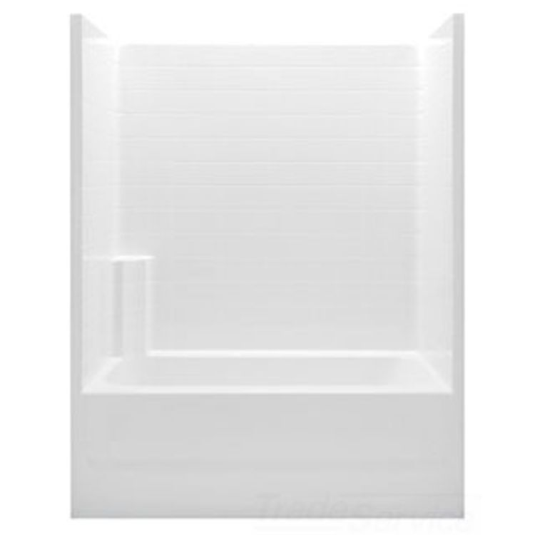 Aquatic Bath 2603CTL AL Almond 60 X32 X72 Smooth Tile Tub Am